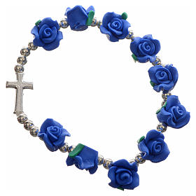 Elastic bracelet with roses s2