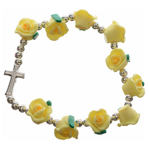 Elastic bracelet with roses 3