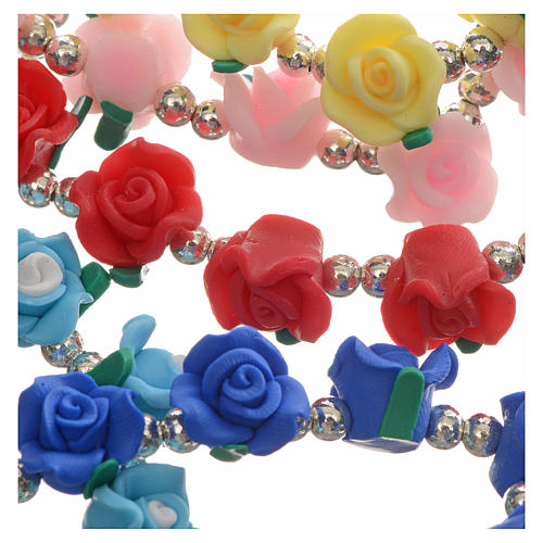 Elastic bracelet with roses 7
