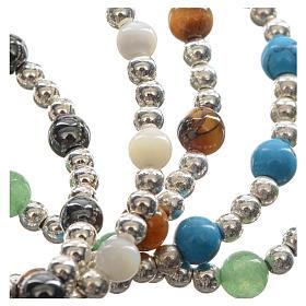 Bracelet élastique pierres dures et croix s7