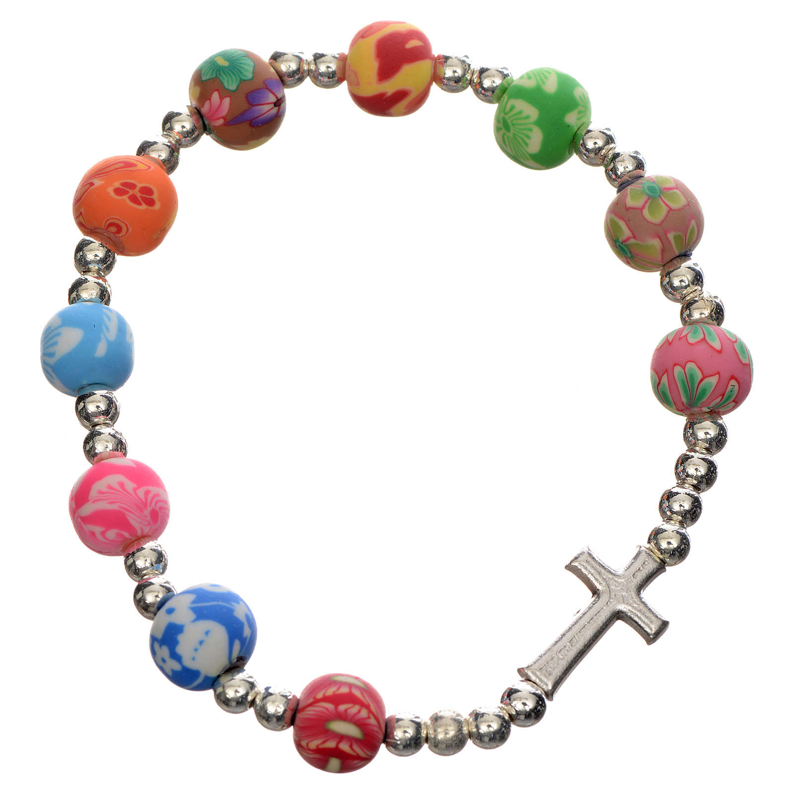 Elastic bracelet with Fimo beads 8mm 4