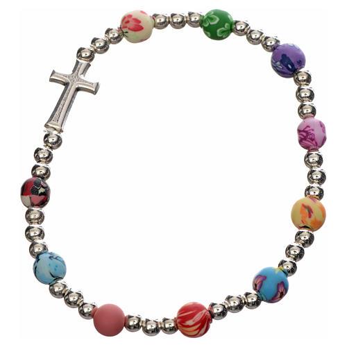 Bracelet élastique avec fimo 6 mm 1