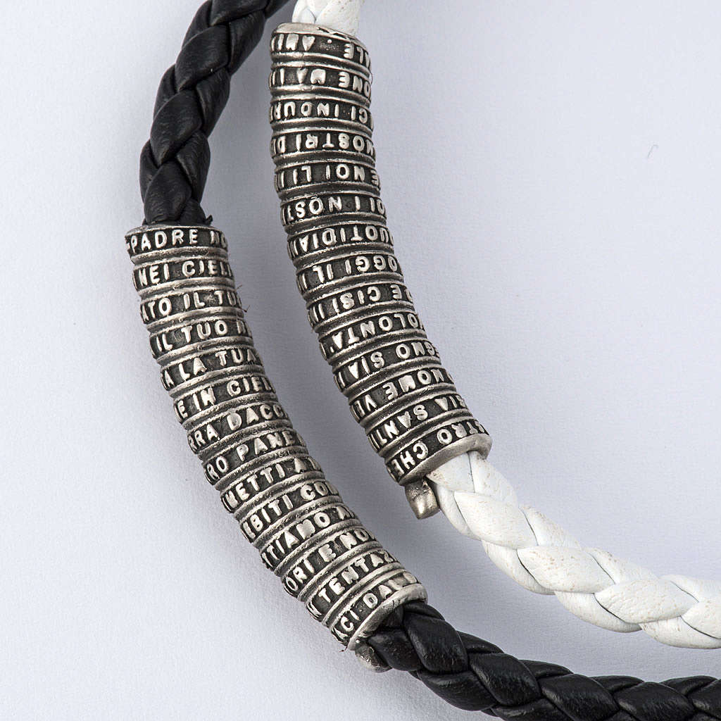 Our Father bracelet in leather 4
