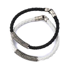 Bracelet Notre Père en cuir ITA s1
