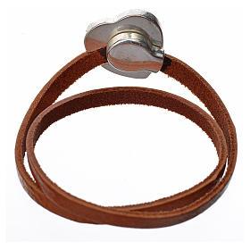 Bracelet image Vierge Marie cuir marron clair s3
