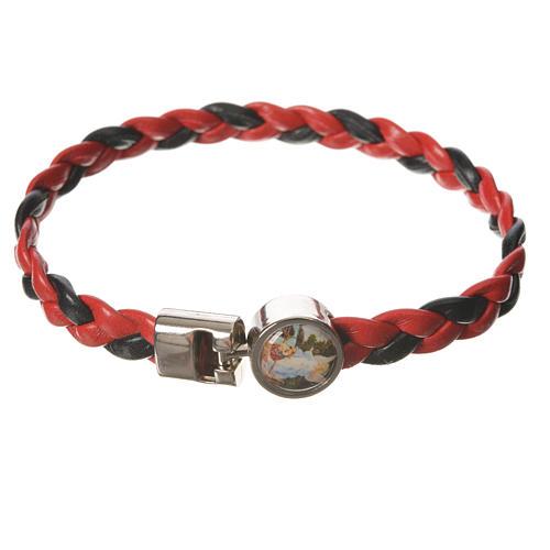 Bracciale intrecciato rosso nero 20cm Angelo 1