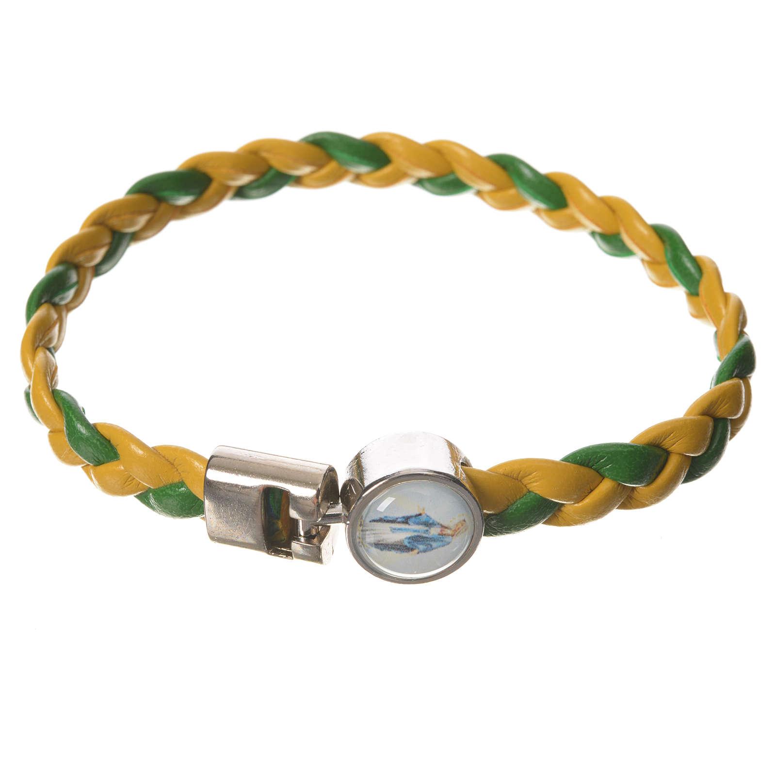 Bracciale intrecciato giallo verde 20cm Miracolosa 4