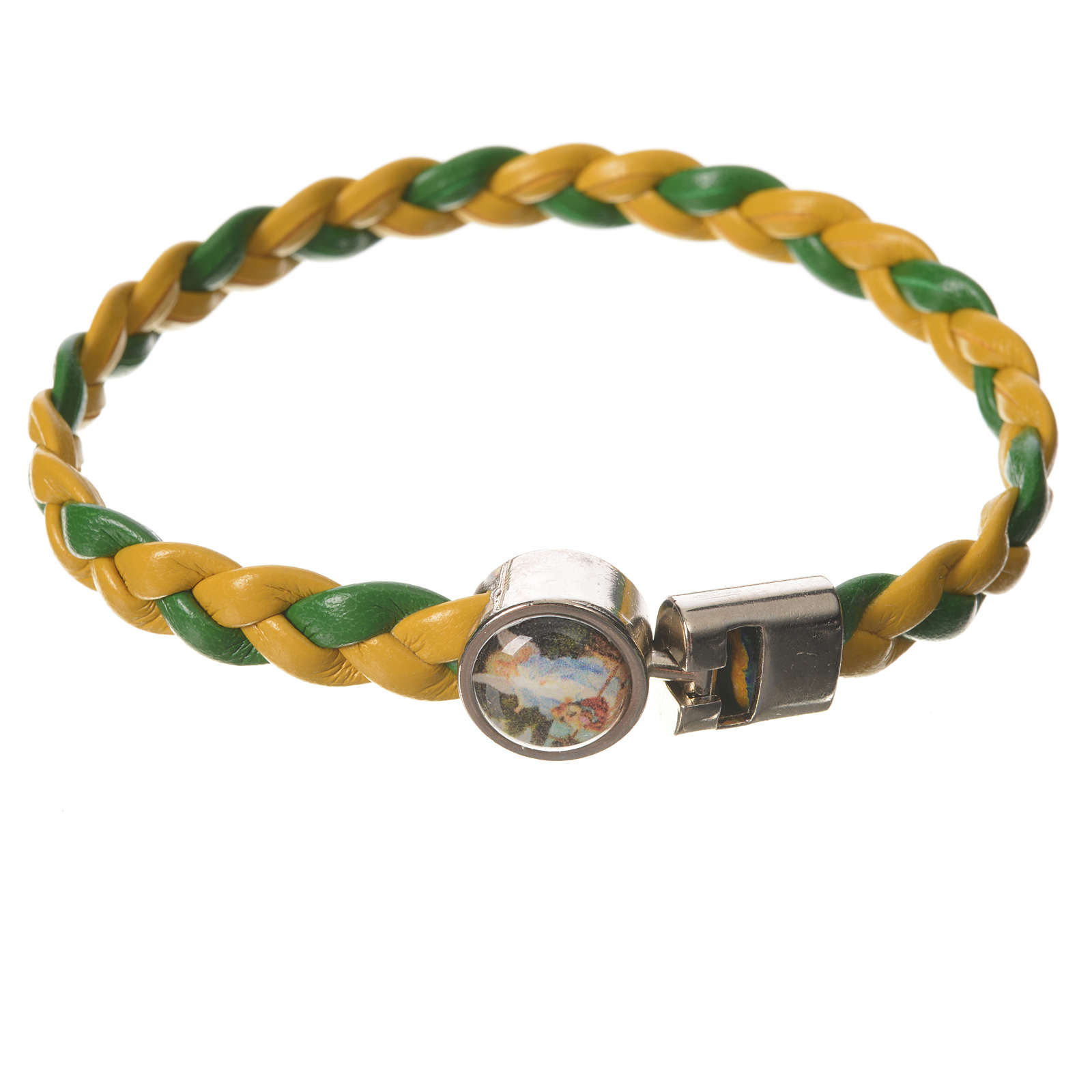 Bracciale intrecciato giallo verde 20cm Angelo 4