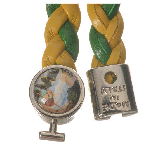 Bracciale intrecciato giallo verde 20cm Angelo 2