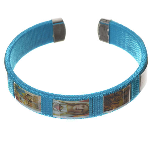 Bracelet in fabric with images of Our Lady 1