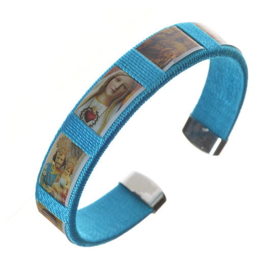 Bracelet in fabric with images of Our Lady 3