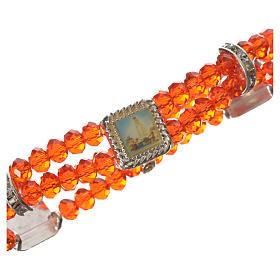 Bracelet élastique verre Cristal 6 mm rouge s2