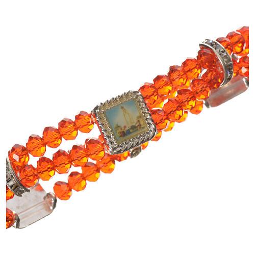 Bracelet élastique verre Cristal 6 mm rouge 2