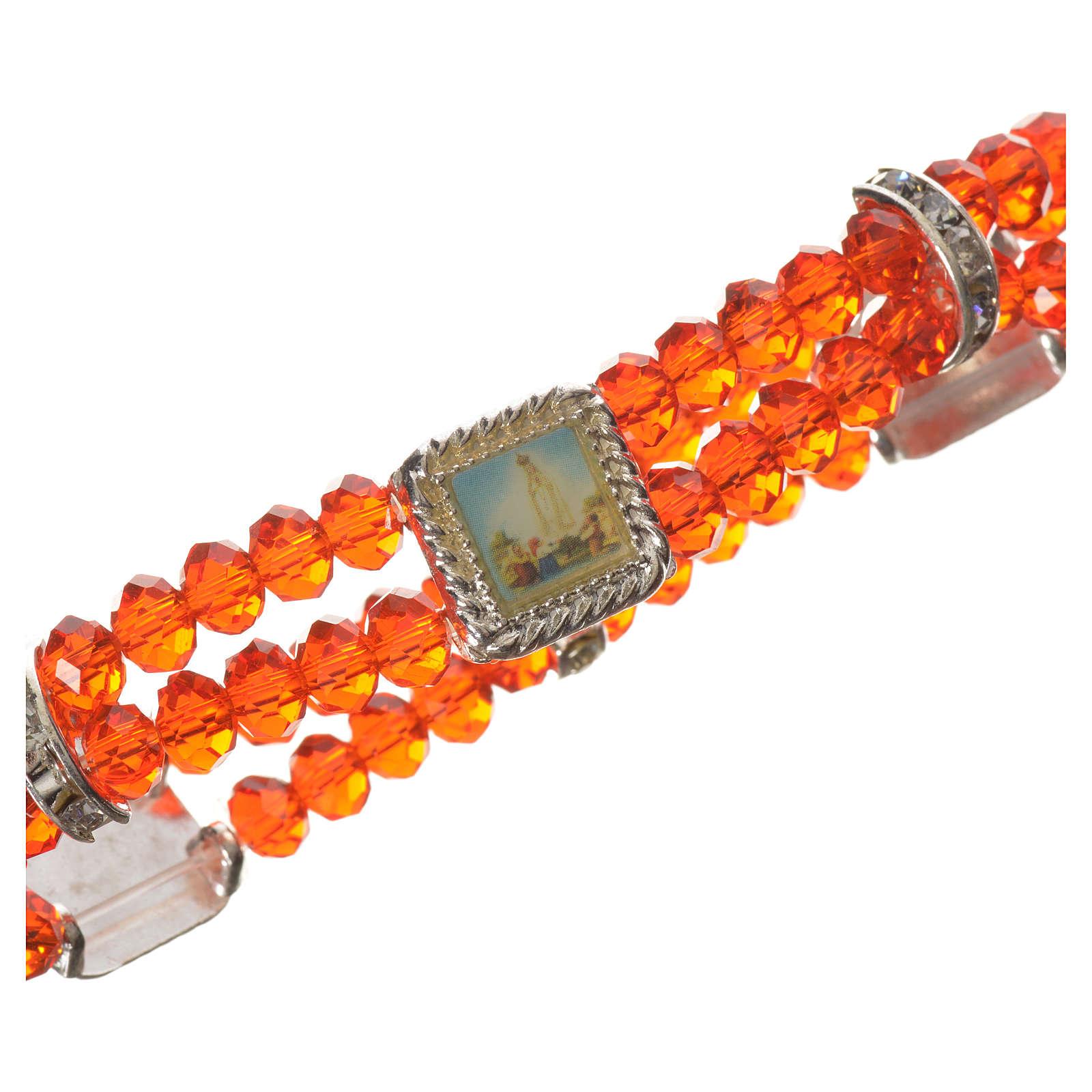 Bracciale elastico vero Cristallo 6 mm Rosso 4