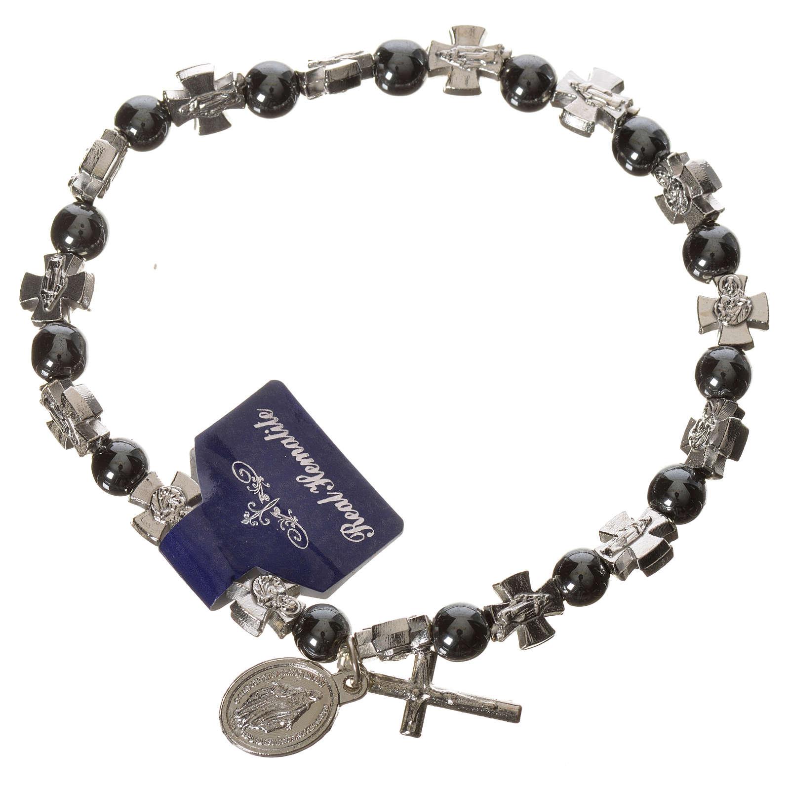 Elastic bracelet with hematite beads 4