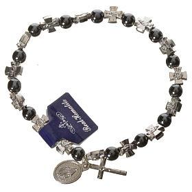 Elastic bracelet with hematite beads s1