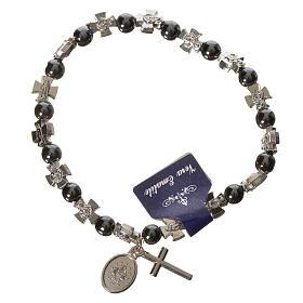 Elastic bracelet with hematite beads s2