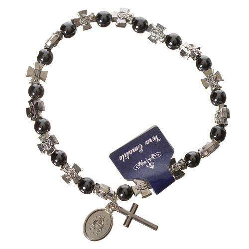 Elastic bracelet with hematite beads 2