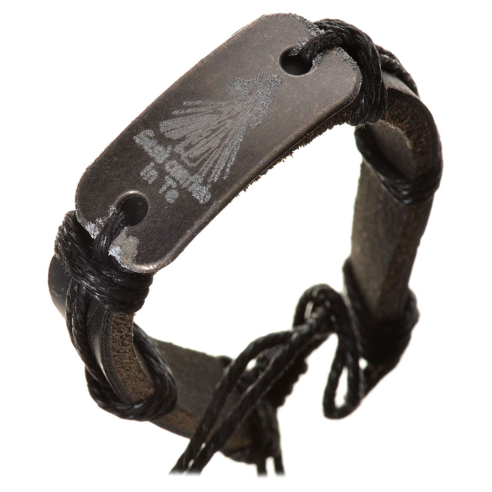 Bracelet in fake leather, Merciful Jesus 4