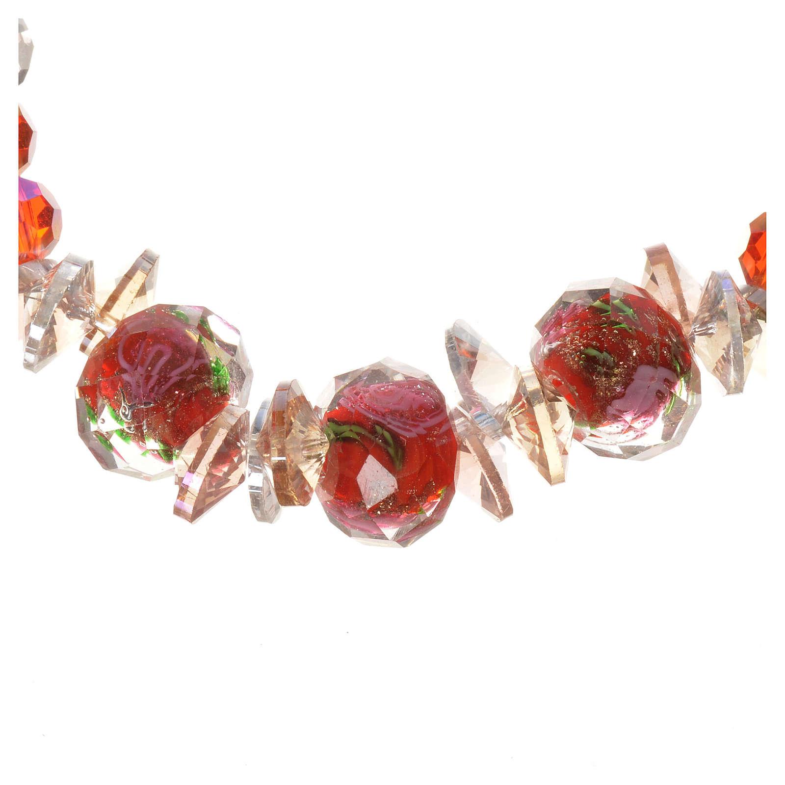 Bracciale Trinità elastico Cristallo Rosso 4