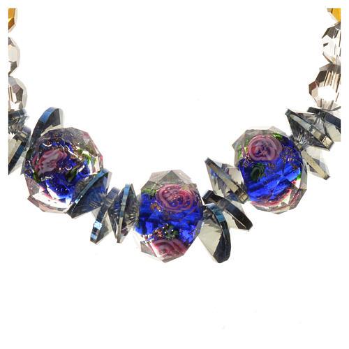 Bracelet Trinité élastique Cristal bleu 2