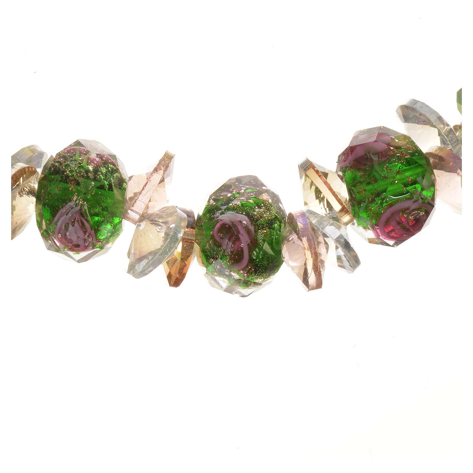 Bracciale Trinità elastico Cristallo Verde 4