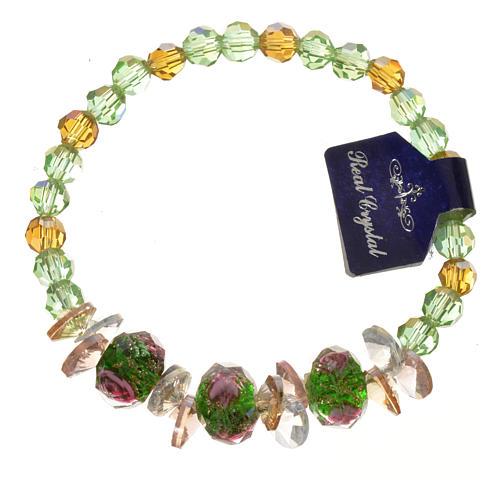 Bracciale Trinità elastico Cristallo Verde 1