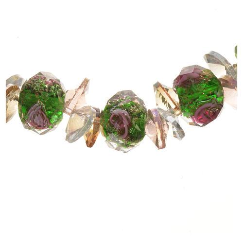Bracciale Trinità elastico Cristallo Verde 2