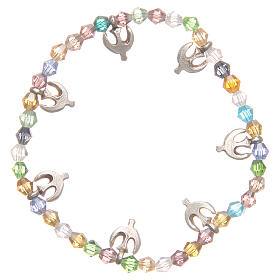 Bracciale pace perline color pastello s2