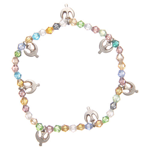 Bracciale pace perline color pastello 1