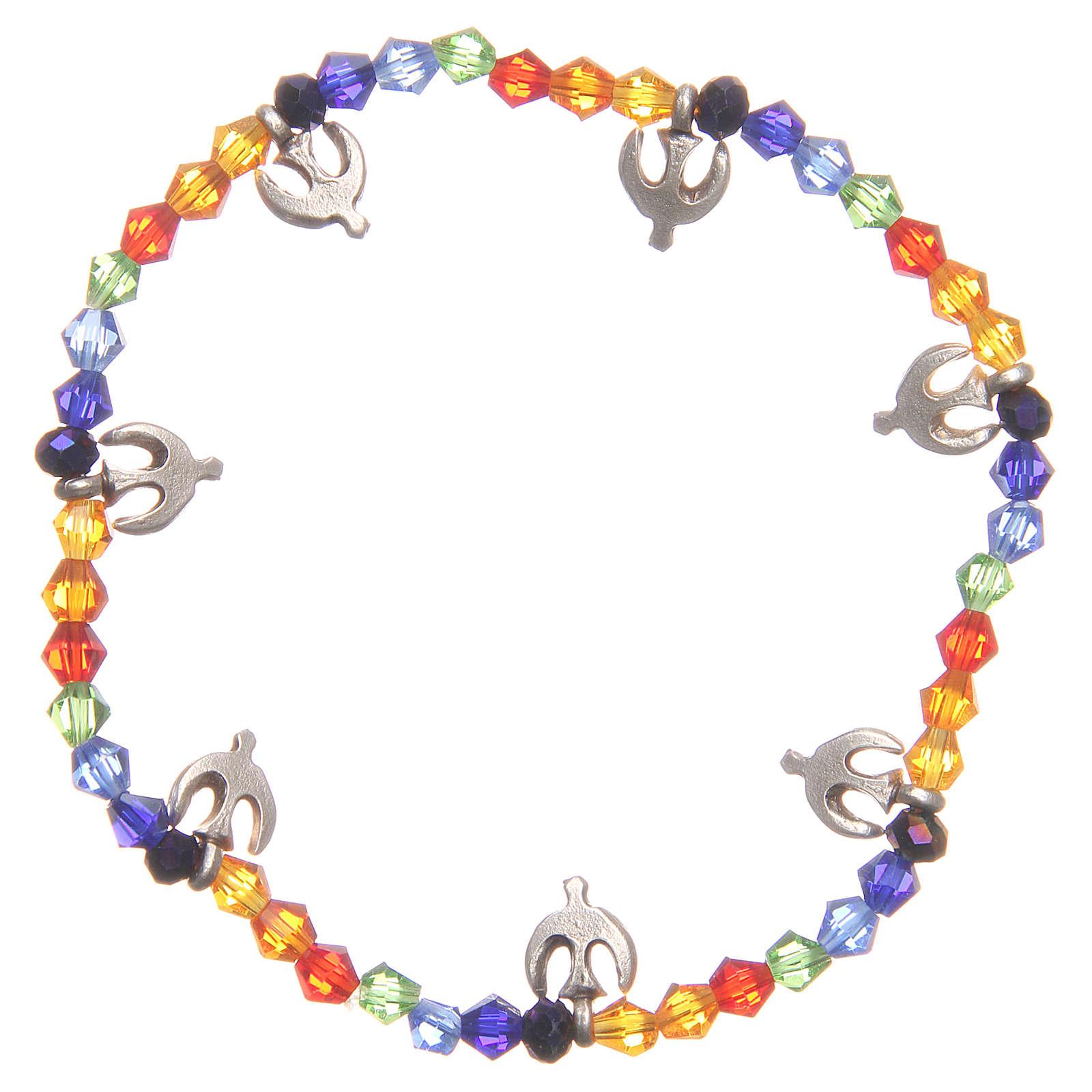 Bracciale pace perline arcobaleno 4
