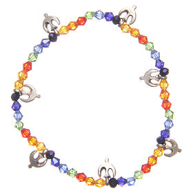 Bracciale pace perline arcobaleno s1