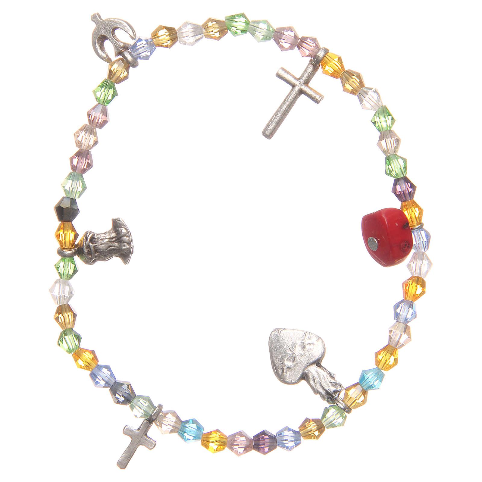 Bracciale perline multicolor Sacro Cuore di Gesù 4