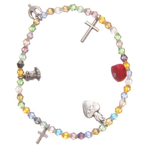 Bracciale perline multicolor Sacro Cuore di Gesù 1