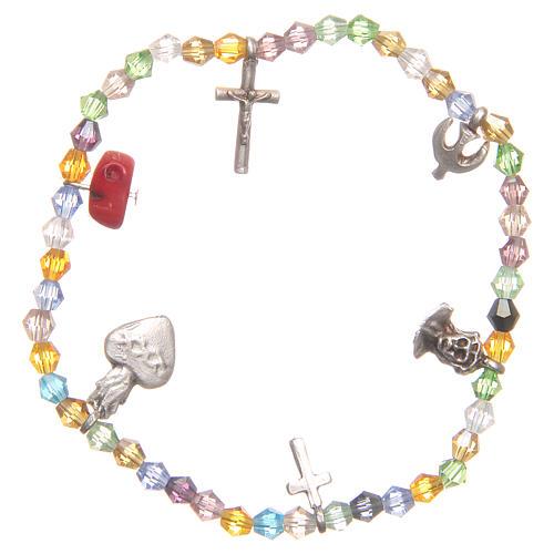 Bracciale perline multicolor Sacro Cuore di Gesù 2