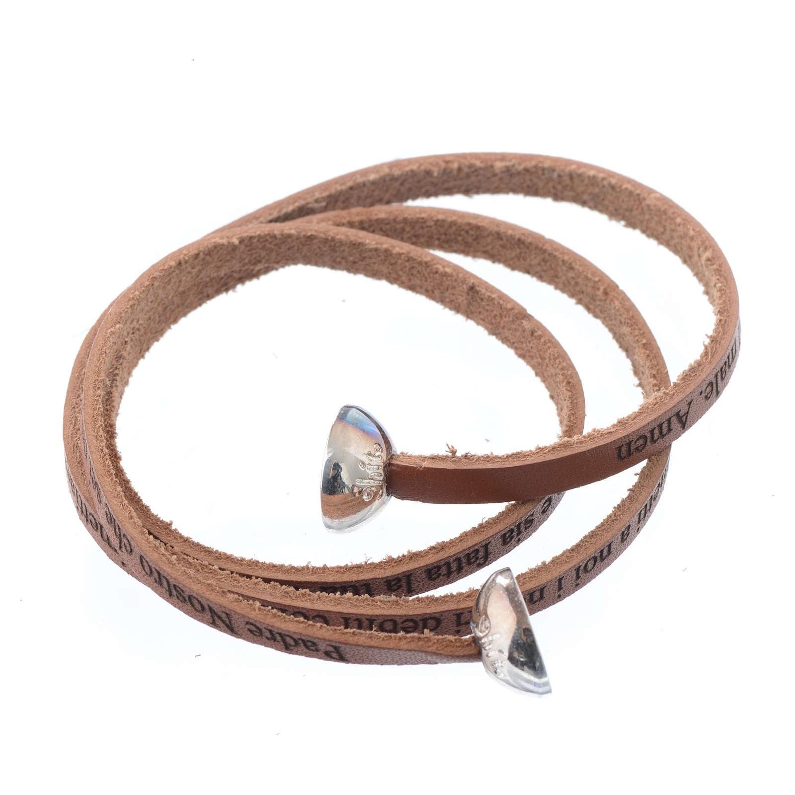 bracelet cuir brun femme