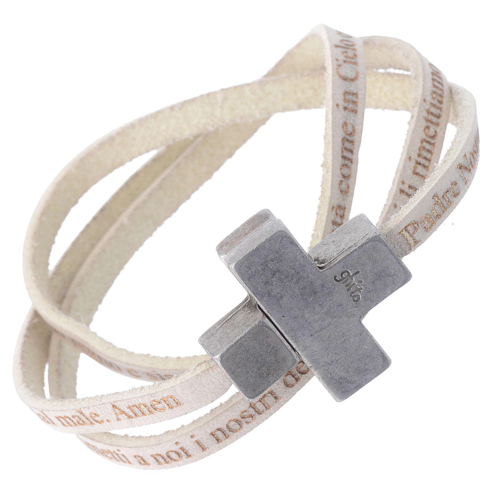 bracelet cuir croix homme