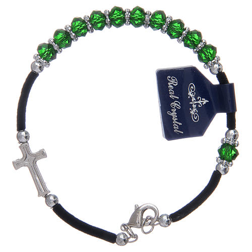 Dozen rosary bracelet assorted crystals 1