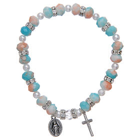 Rosary bracelet with glass grains 6x8 mm s1