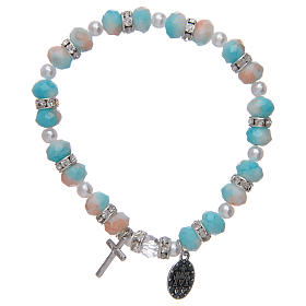 Rosary bracelet with glass grains 6x8 mm s2