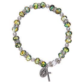 Bracciale rosario in vetro sfaccettato due tonalità s1