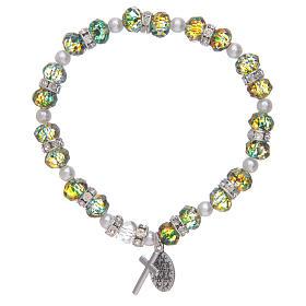 Bracciale rosario in vetro sfaccettato due tonalità s2