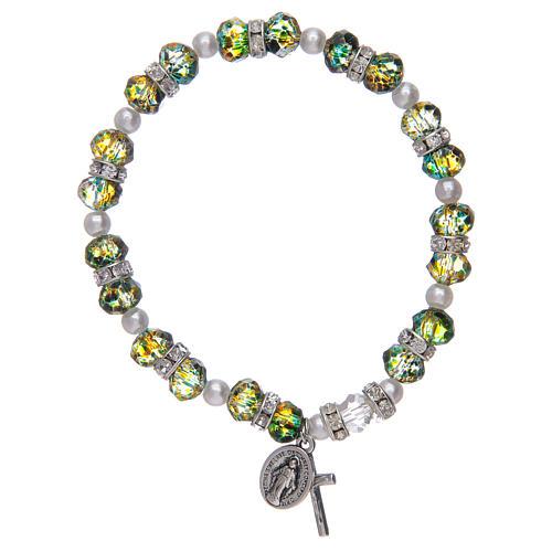 Bracciale rosario in vetro sfaccettato due tonalità 1