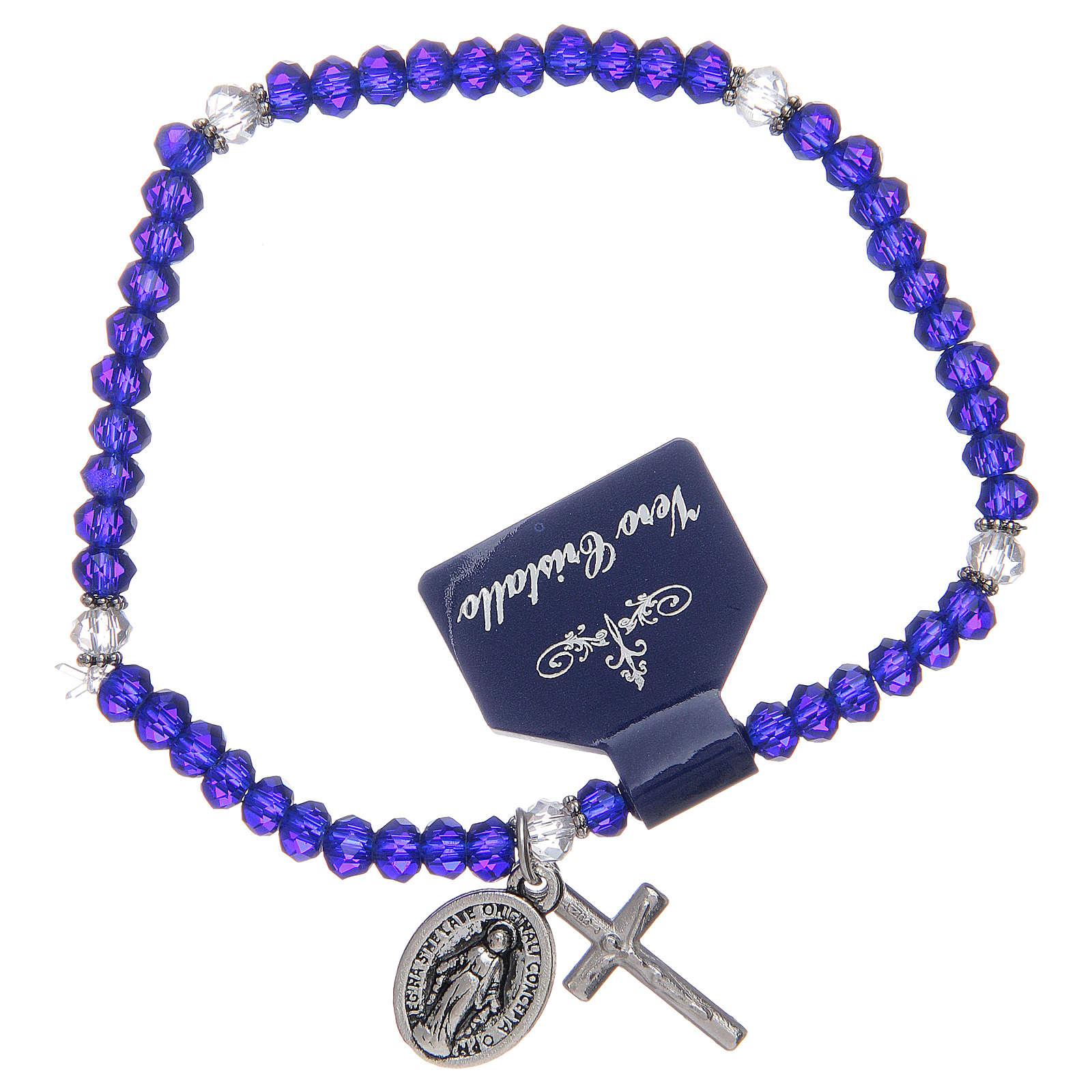 Bracelet chapelet avec grains en cristal divers coloris 4