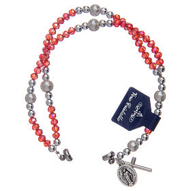 Bracelet with red crystal grains and magnetic closure s3