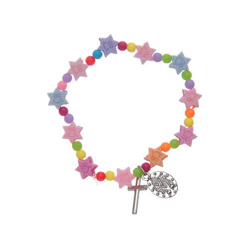 Bracciale con grani multicolore a forma di stella 2