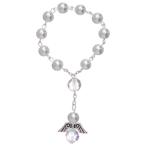 Dozen bracelet with grains made in pearl imitation and pendant, assorted colours 1