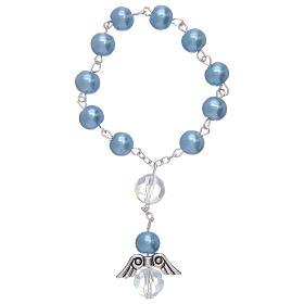 Dozen bracelet with grains made in pearl imitation and pendant, assorted colours s3