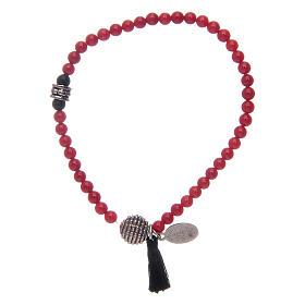 Bracelet élastique avec grains en onyx et médaille Miraculeuse s2