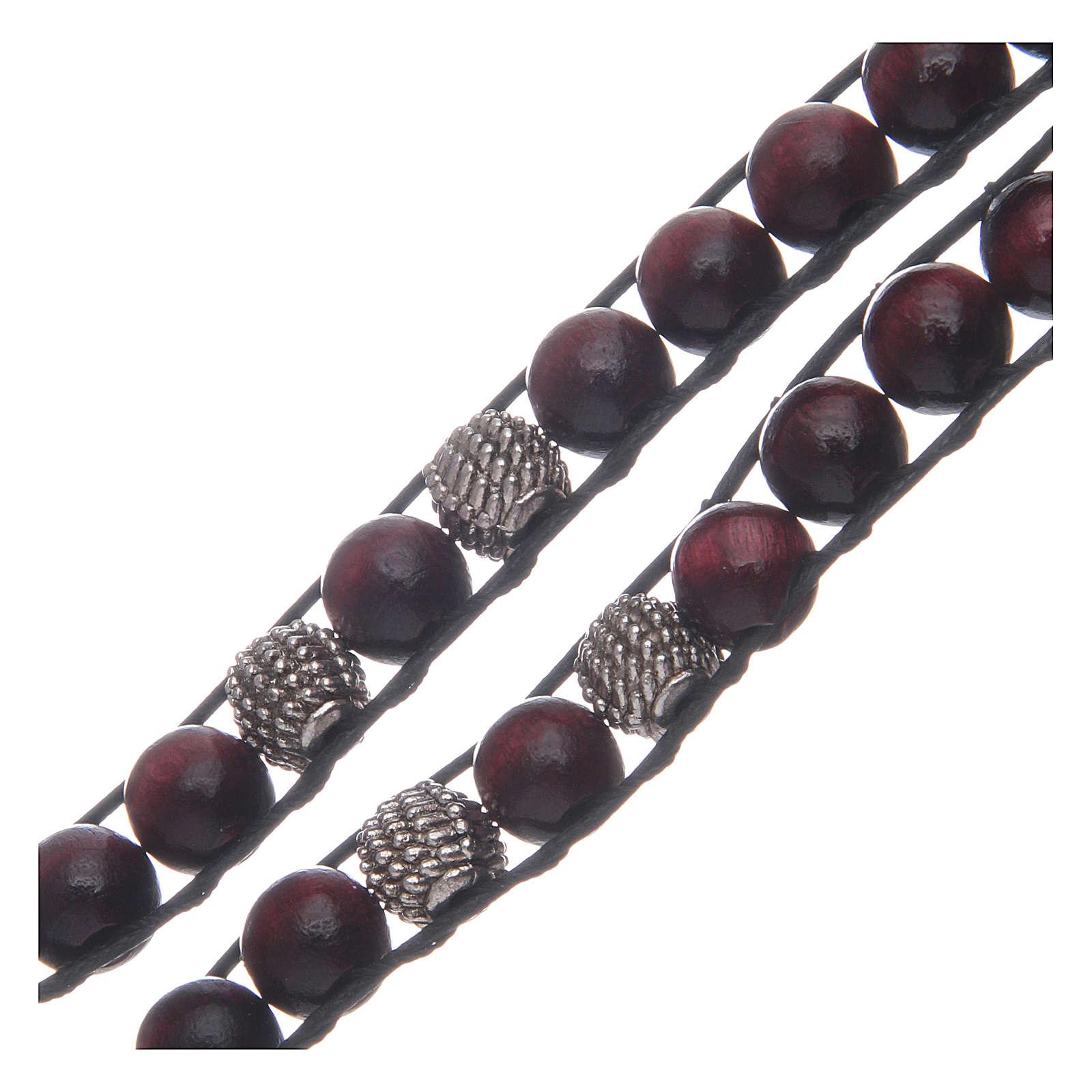 Bracelet avec grains bois de palissandre 8 mm St Benoît 4